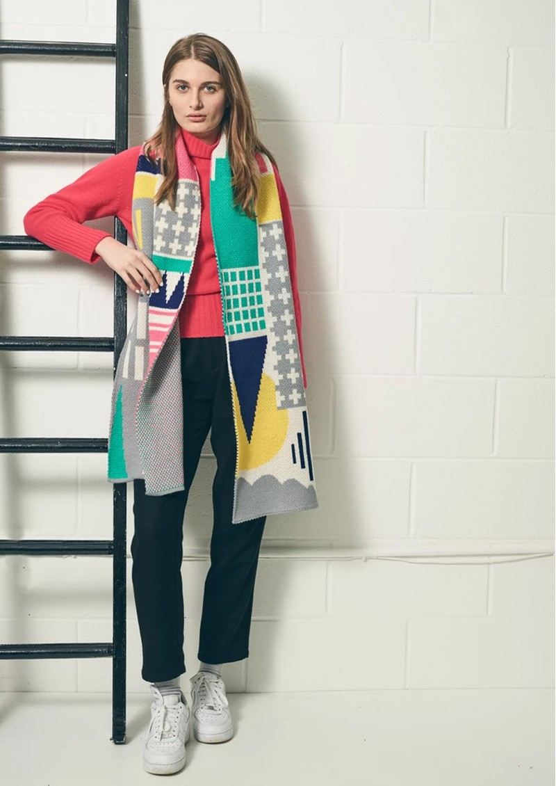 MISS POM POM City Scarf - Multi main image