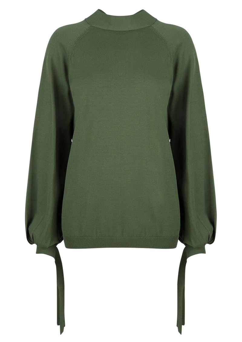 DANTE 6 Lowe Knitted Sweater - Forest Green main image