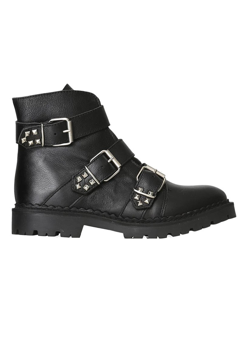 SHOE THE BEAR Hailey Buckle Leather Boots - Black main image