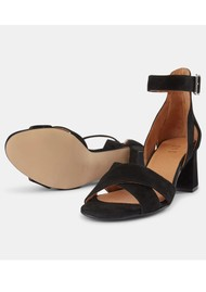 SHOE THE BEAR May Cross Suede Sandals - Black