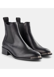 SHOE THE BEAR Ruby Leather Chelsea Boot - Black