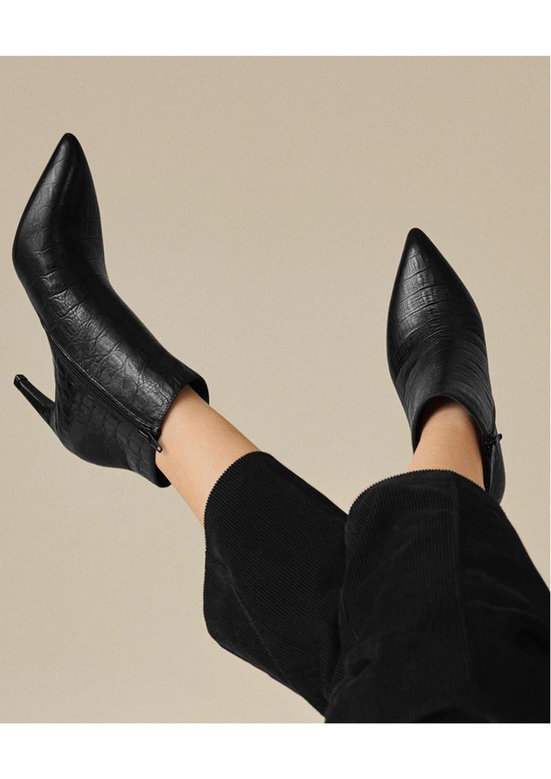 SHOE THE BEAR Vanessa Croco Leather Boot - Black main image