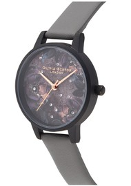 Olivia Burton Vegan Friendly Celestial Midi Dial Watch - London Grey & Matte Black