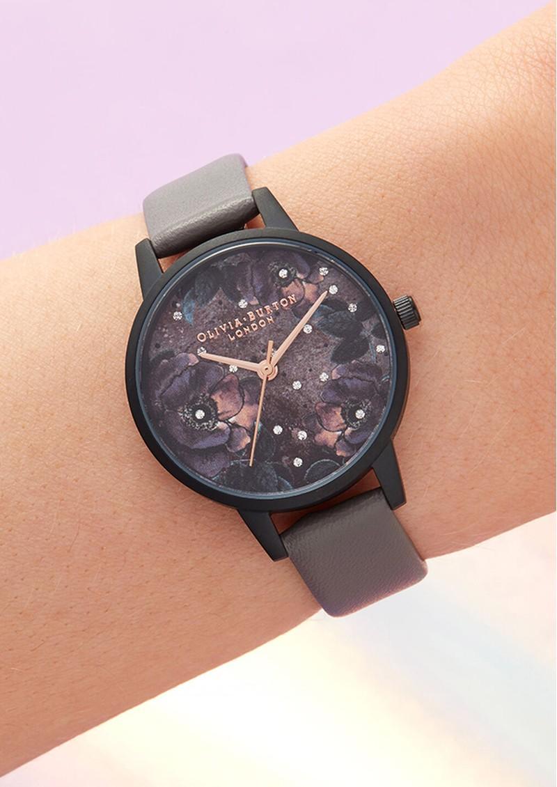 Olivia Burton Vegan Friendly Celestial Midi Dial Watch - London Grey & Matte Black main image