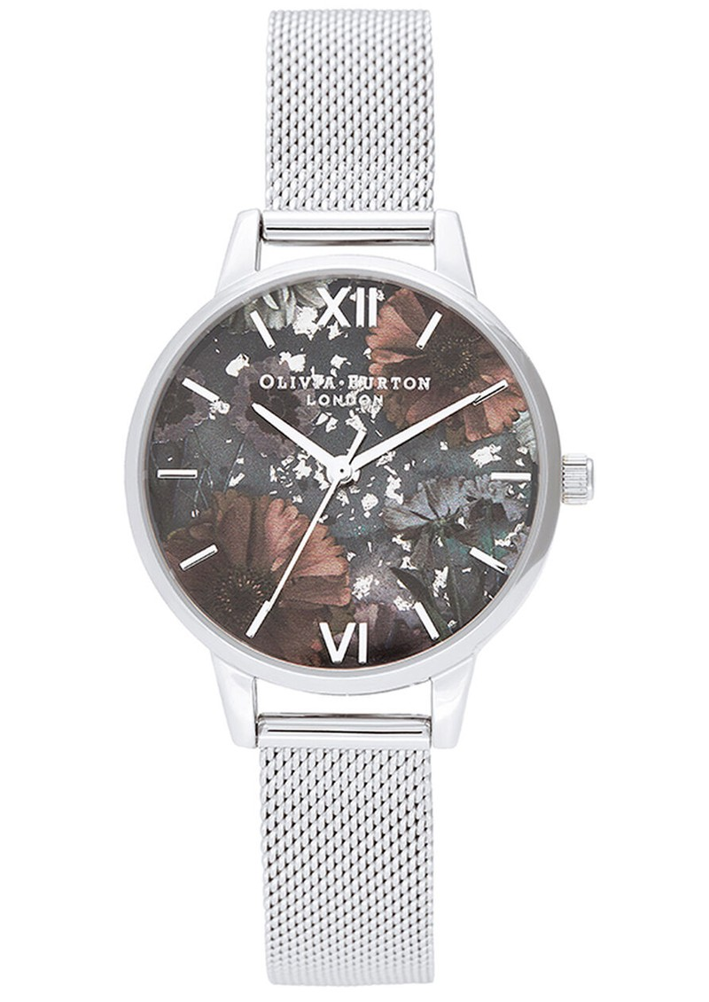 Olivia Burton Celestial Midi Dial Mesh Watch - Silver main image