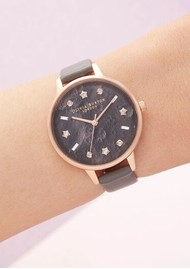 Olivia Burton Celestial Vegan Friendly Demi Dial Watch - London Grey & Rose Gold