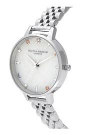 Olivia Burton Celestial Demi Dial Bracelet Watch - Silver