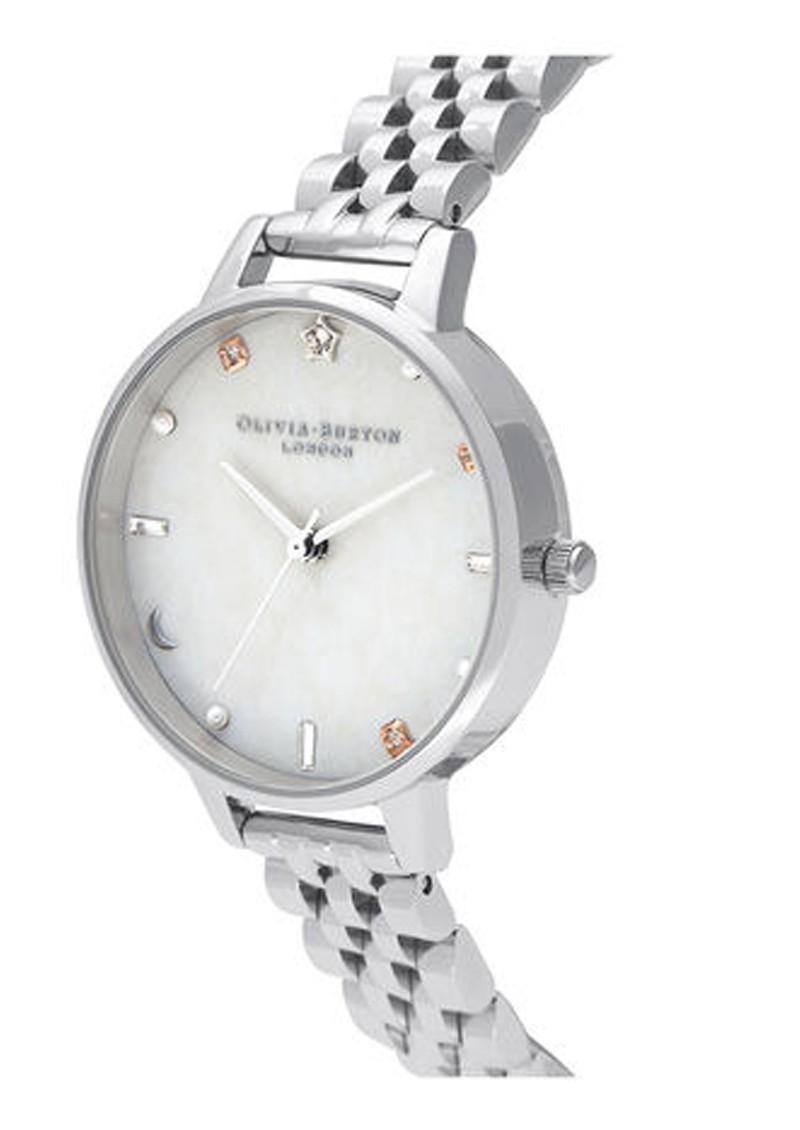 Olivia Burton Celestial Demi Dial Bracelet Watch - Silver main image
