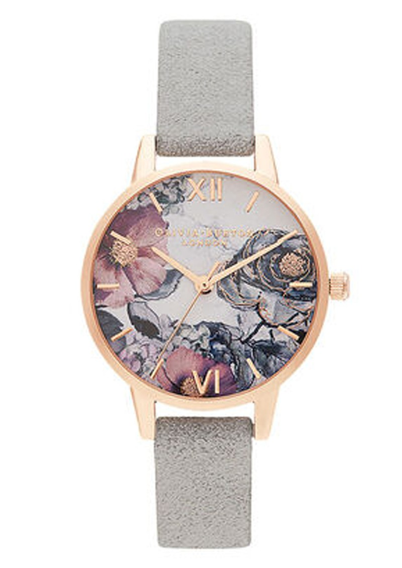 Olivia Burton Eco Friendly Midi Dial Watch -  Grey & Rose Gold  main image