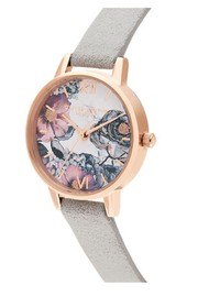 Olivia Burton Eco Friendly Midi Dial Watch -  Grey & Rose Gold