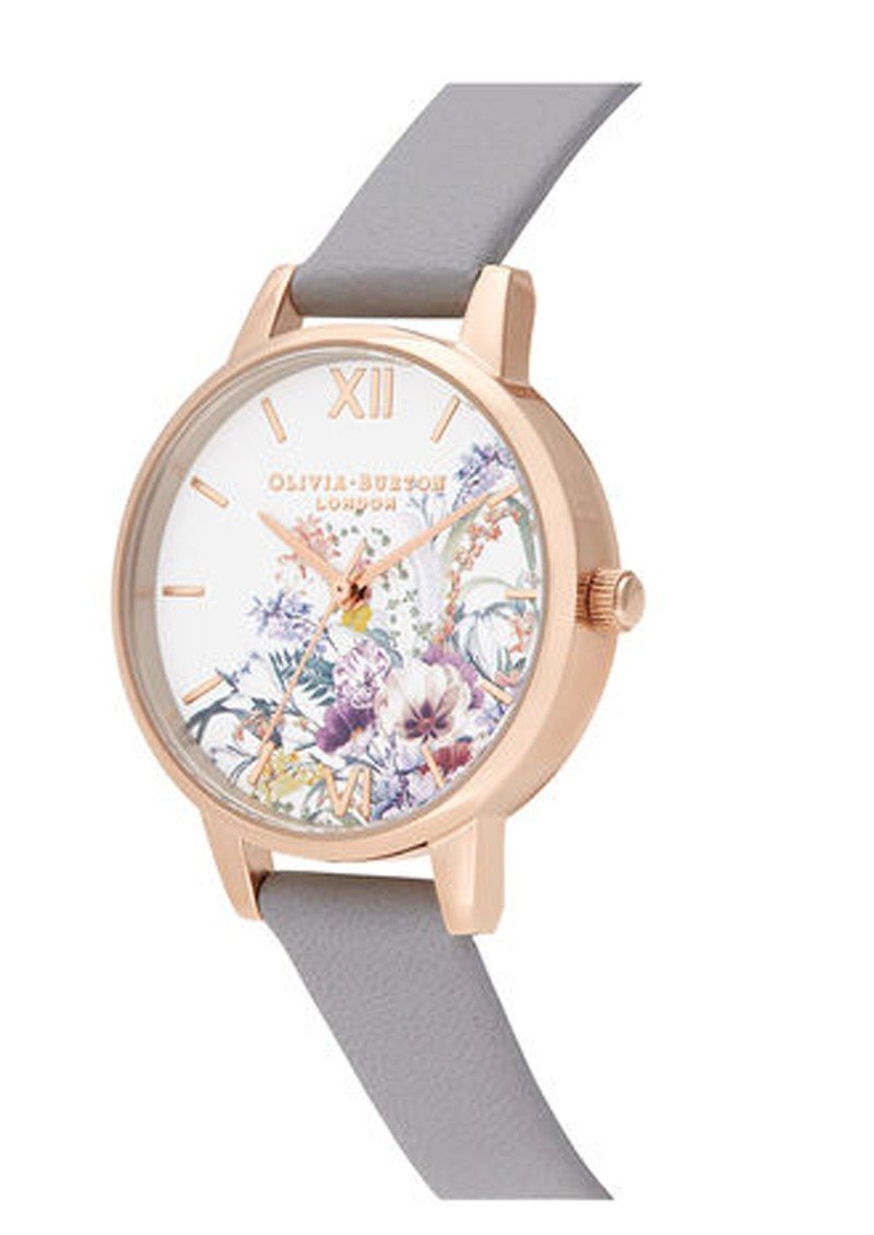 Olivia Burton Enchanted Garden Midi Dial Watch - Grey Lilac & Pale Rose Gold main image