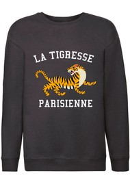 ON THE RISE Bella La Tigresse Parisienne Sweater - Black