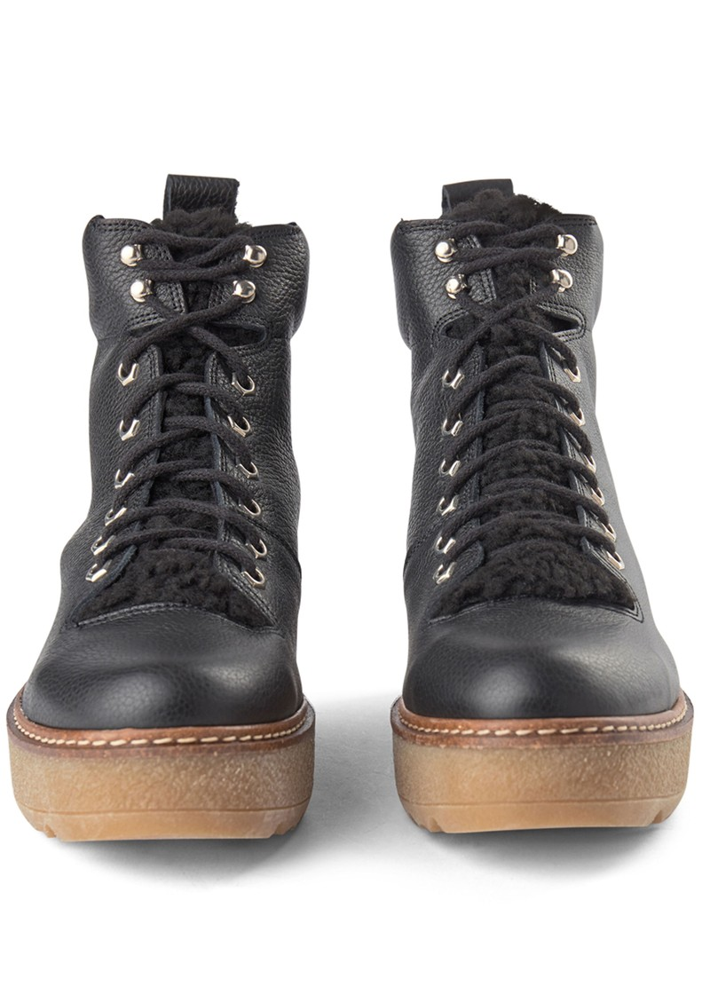 SHOE THE BEAR Bex Leather Boot - Black main image
