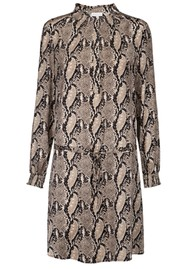 DEA KUDIBAL Aura Silk Dress - Snake Taupe