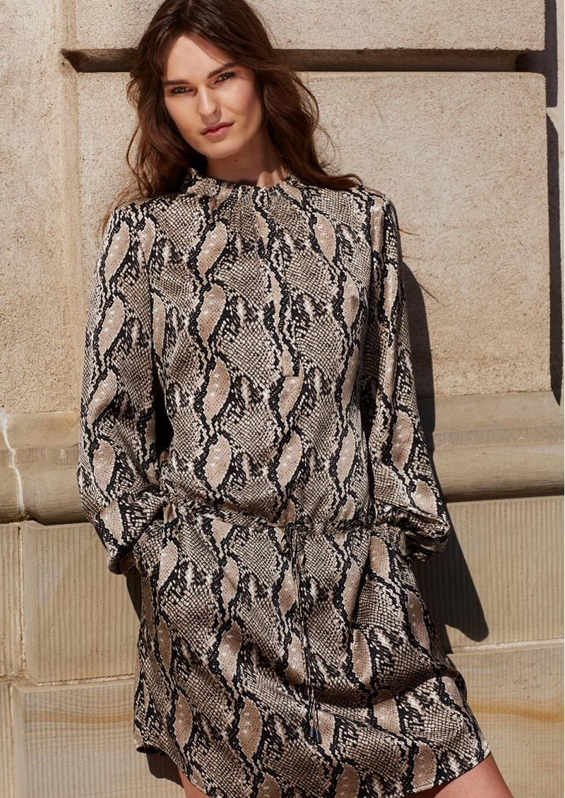DEA KUDIBAL Aura Silk Dress - Snake Taupe main image