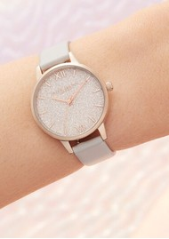 Olivia Burton Glitter Vegan Friendly Midi Dial - Blush & Pale Gold