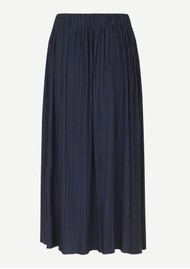 SAMSOE & SAMSOE Uma Long Pleated Skirt - Night Sky