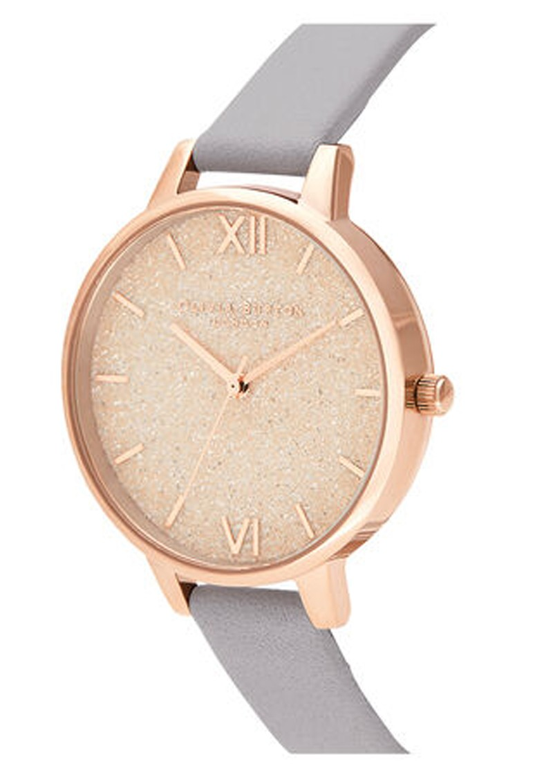 Olivia Burton Glitter Demi Dial Watch - Grey, Lilac & Pale Rose Gold main image