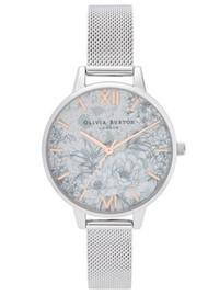 Olivia Burton Terrazzo Florals Demi Dial Mesh Watch - Rose Gold & SIlver
