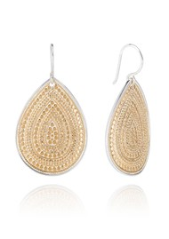 ANNA BECK Large Dotted Teardrop Earrings - Gold
