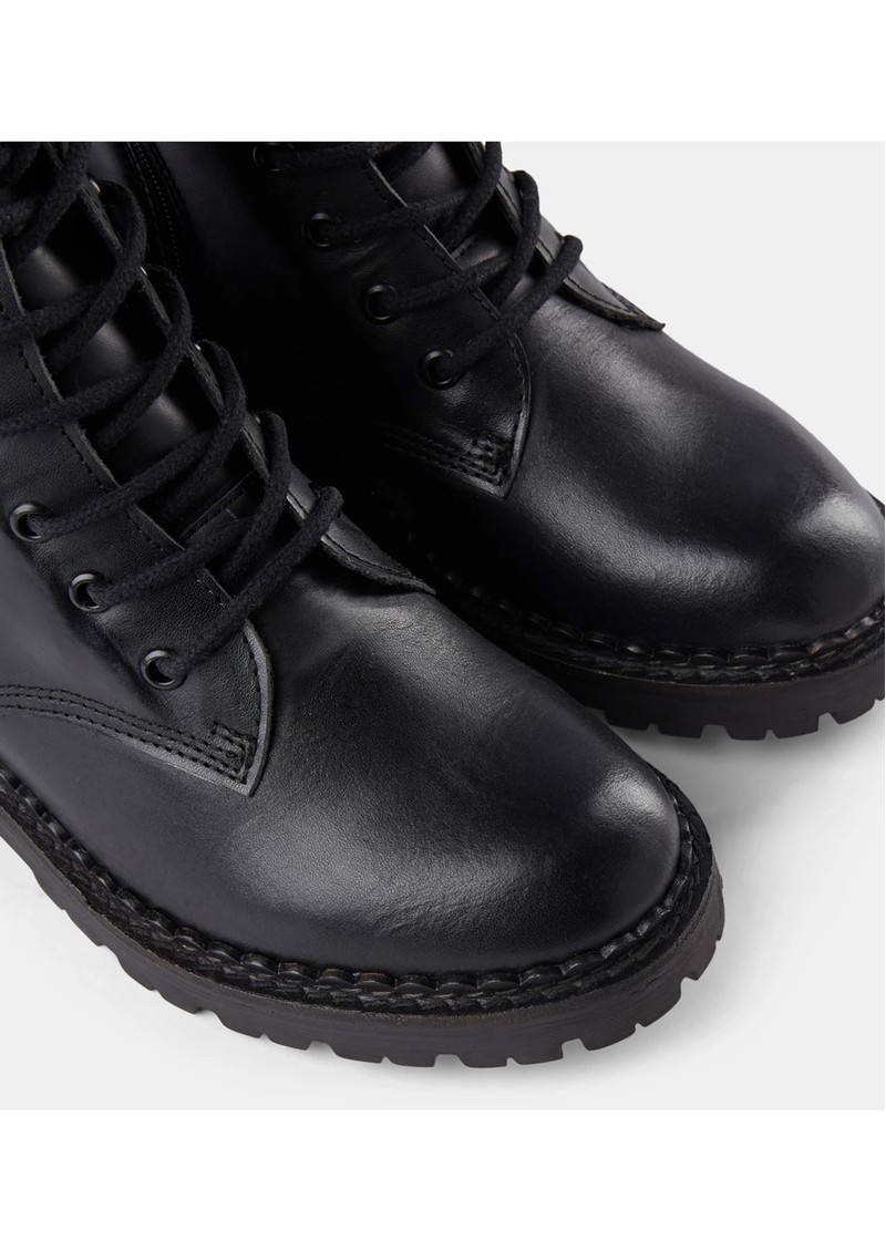 SHOE THE BEAR Hailey Lace Up Leather Boots - Black main image
