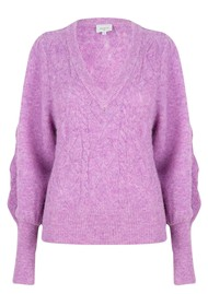 DANTE 6 Sylas Cable Sweater - Lilac Pink