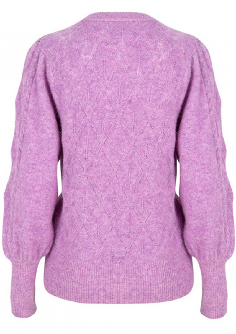DANTE 6 Sylas Cable Sweater - Lilac Pink  main image