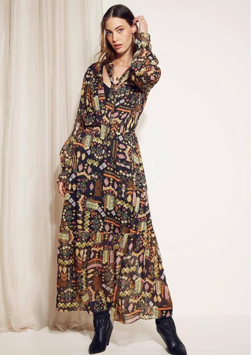 DANTE 6 Valkyrie Folky Long Dress - Multi main image
