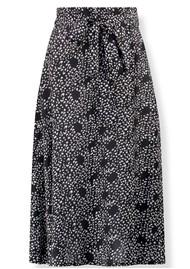 Pyrus Miranda Midi Silk Skirt - Feathers