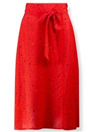Pyrus Miranda Midi Silk Skirt - Tiny Stars