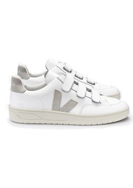 VEJA V- Lock Leather Trainers - Extra White & Natural