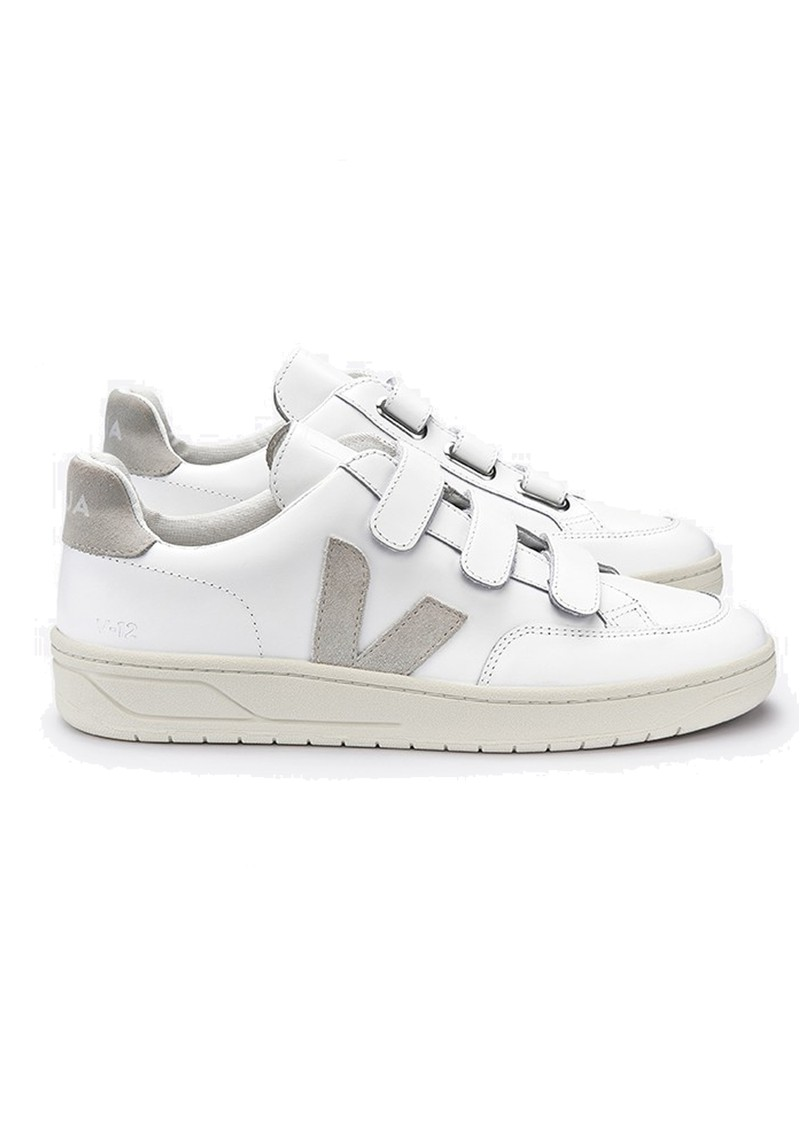 VEJA V- Lock Leather Trainers - Extra White & Natural main image