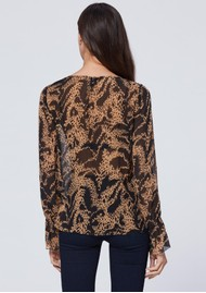 Paige Denim Jojie Silk Blouse - Hyde Black