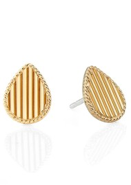 ANNA BECK Stargaze Ribbed Teardrop Studs - Gold