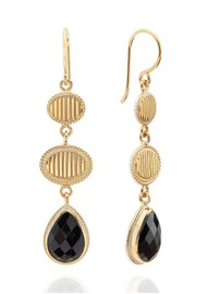 ANNA BECK Stargaze Hypersthene Triple Drop Earrings - Gold