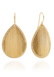 ANNA BECK Stargaze Ribbed Teardrop Earrings - Gold