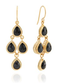 ANNA BECK Stargaze Hypersthene Chandelier Earrings - Gold