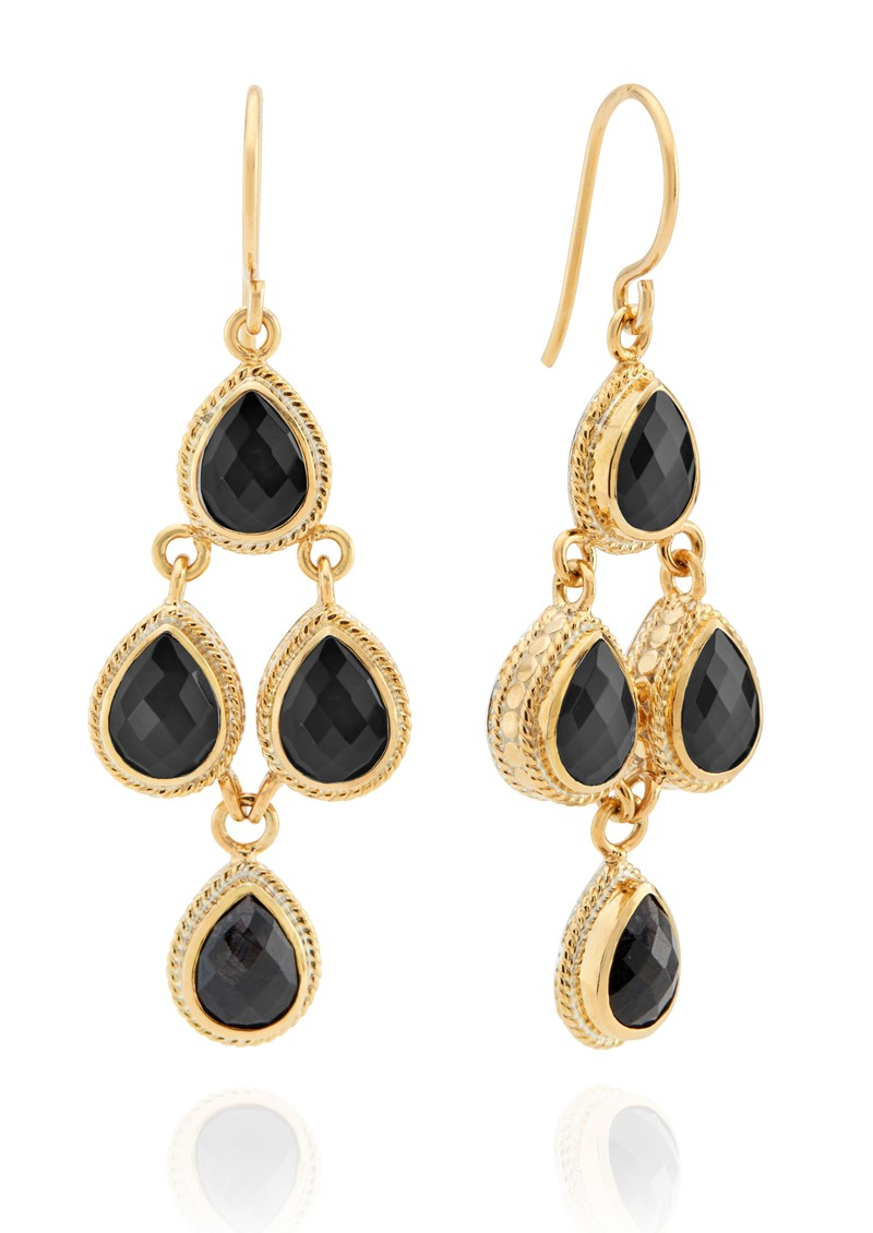 ANNA BECK Stargaze Hypersthene Chandelier Earrings - Gold main image