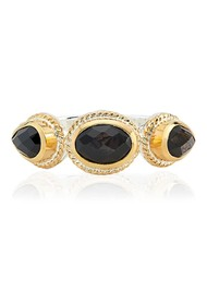 ANNA BECK Stargaze Hypersthene Triple Stone Ring - Gold