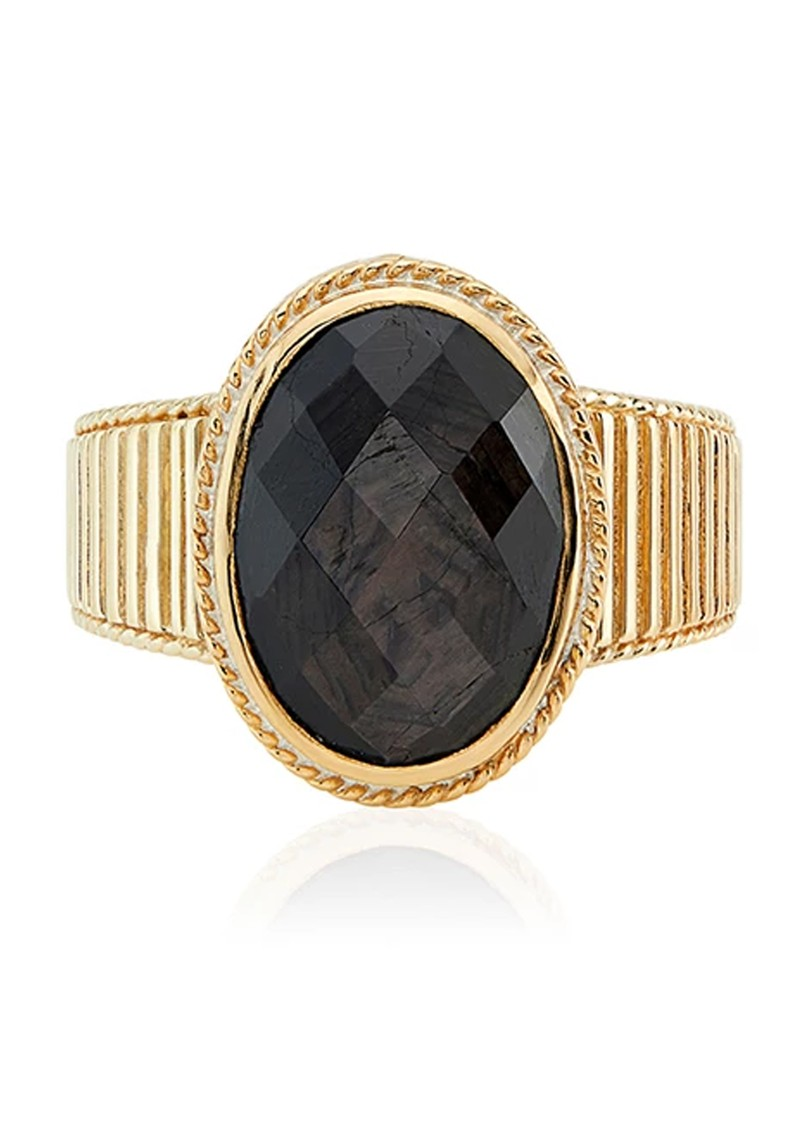 ANNA BECK Stargaze Hypersthene Oval Ring - Gold main image