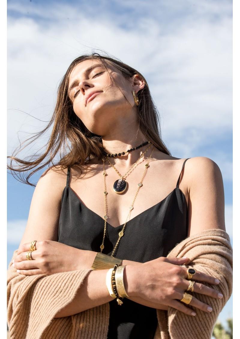 ANNA BECK Stargaze Onyx Beaded Bracelet - Gold main image