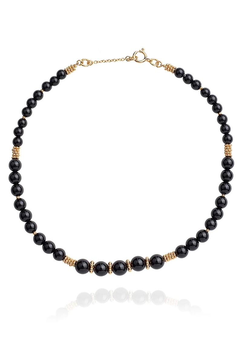 ANNA BECK Stargaze Onyx Beaded Choker - Gold main image