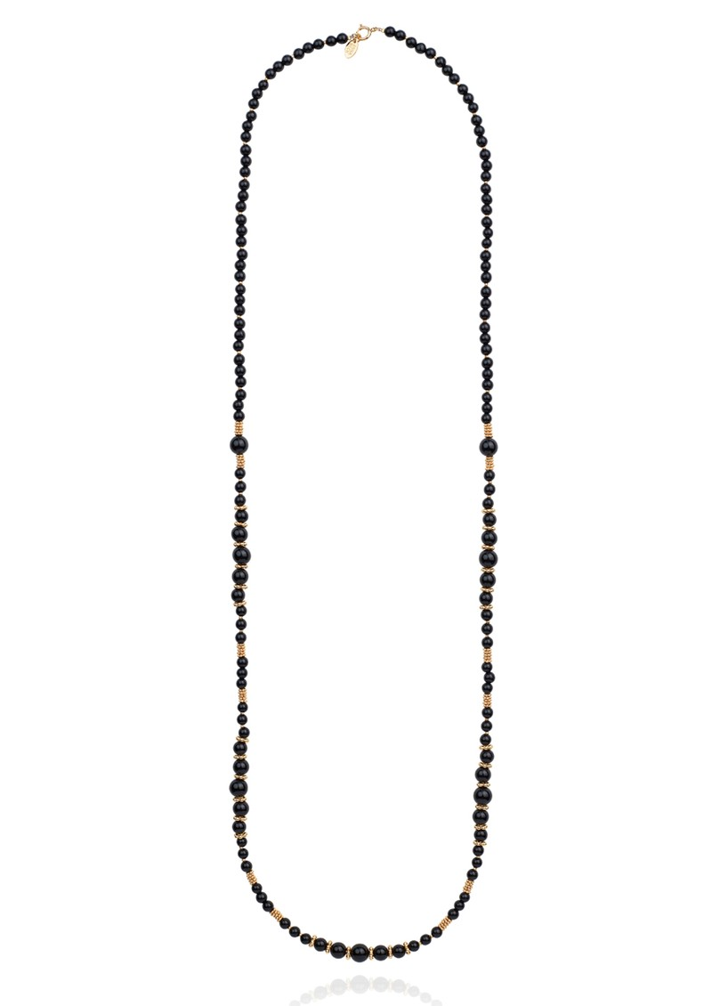ANNA BECK Stargaze Onyx Beaded Necklace - Gold  main image