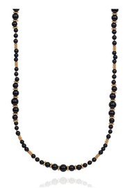 ANNA BECK Stargaze Onyx Beaded Necklace - Gold