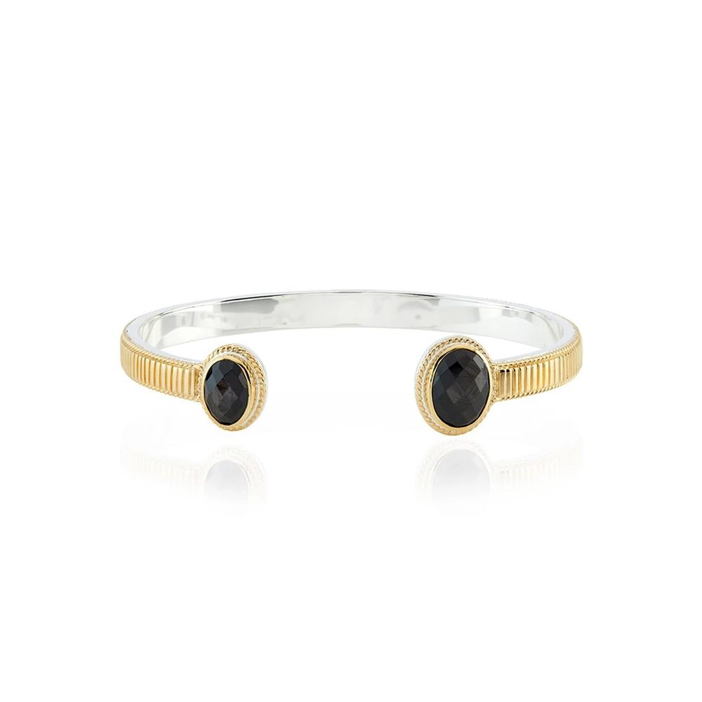 Stargaze Hypersthene Double Stone Cuff - Gold
