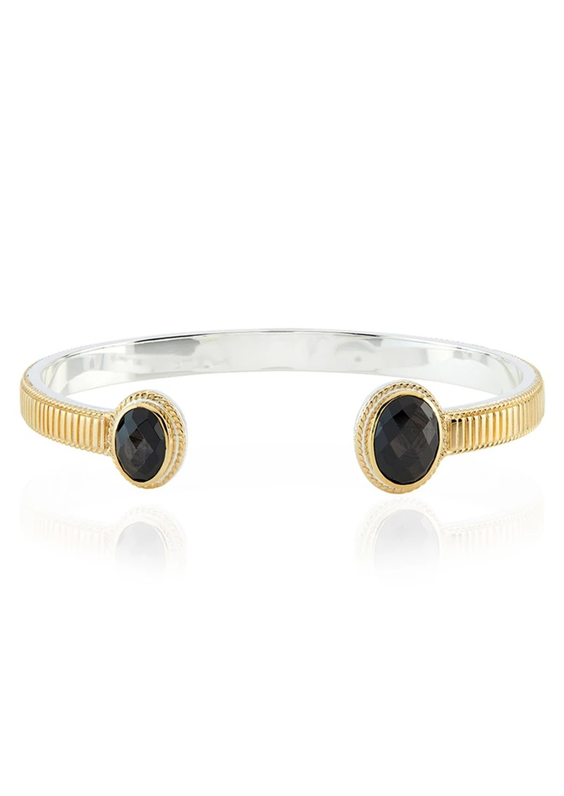 ANNA BECK Stargaze Hypersthene Double Stone Cuff - Gold main image