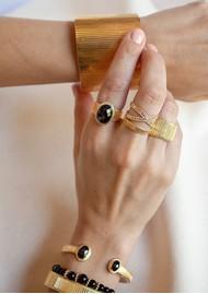 ANNA BECK Stargaze Hypersthene Double Stone Cuff - Gold