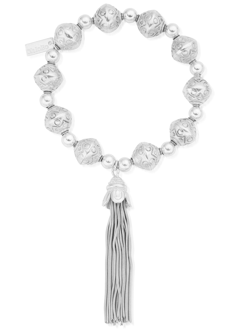 ChloBo Feature Bead Tassel Bracelet - Silver main image