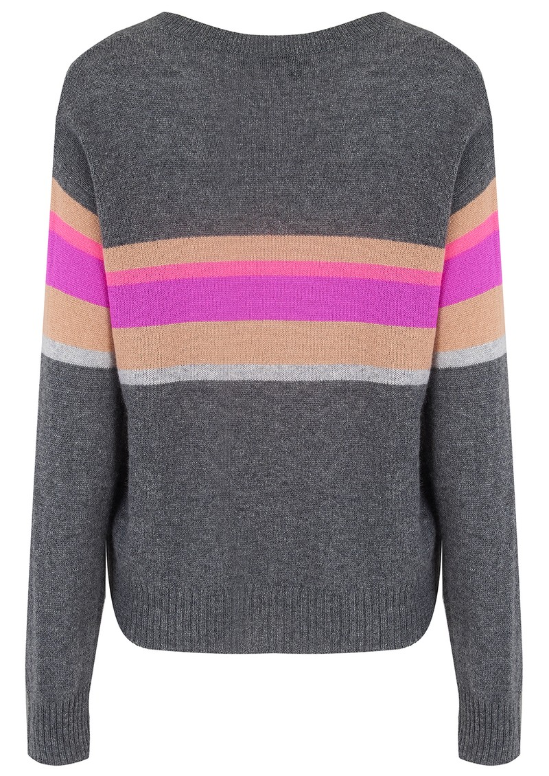 360 SWEATER Gemma Cashmere Stripe Jumper - Lead  main image