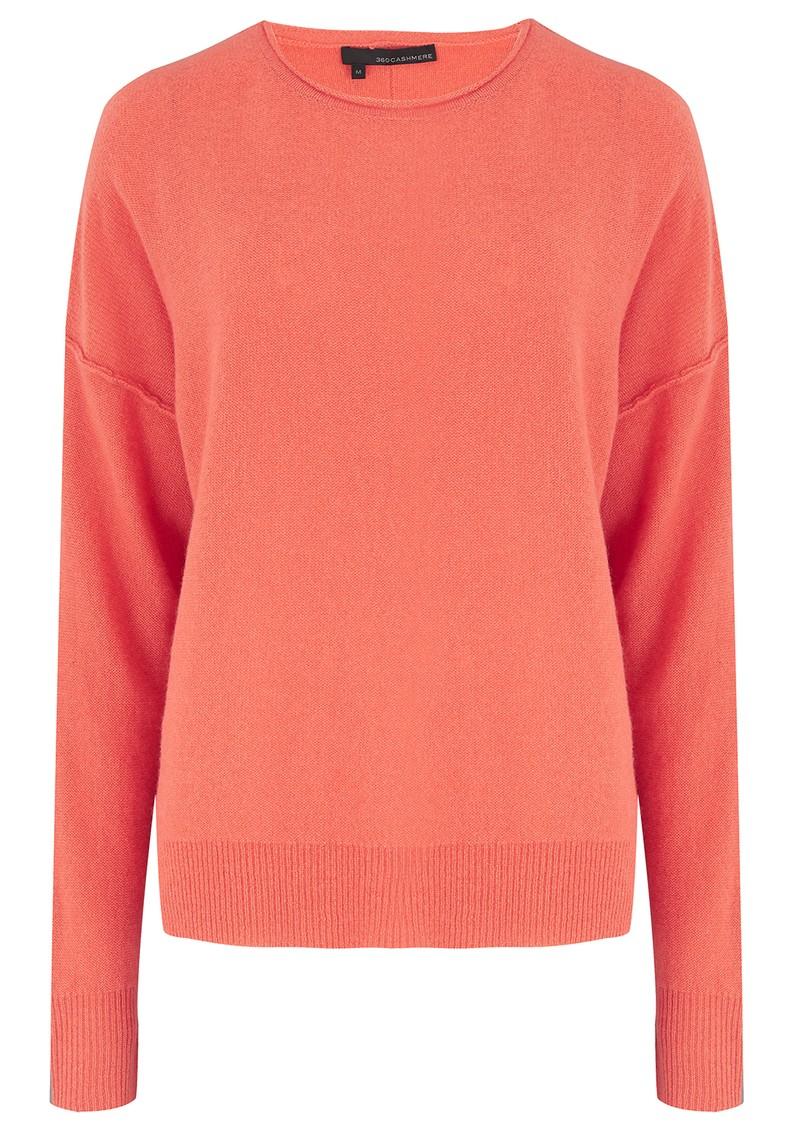 360 SWEATER Adelyn Cashmere Jumper - Burnt Orange main image